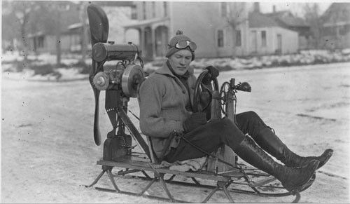 TGIF: REALLY vintage snowmobile for use without a scarf