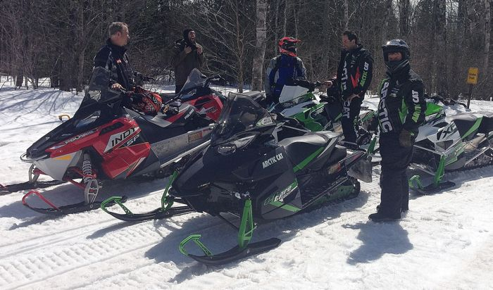 I have a lot of plans for group snowmobile rides.