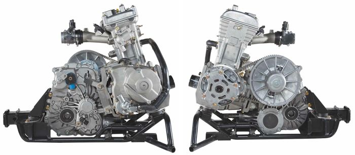 R. and L. profile of Arctic Cat 700 Wildcat UTV Engine by Kymco.