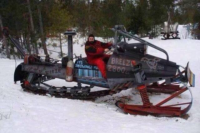A big snowmobile for a big snowfall