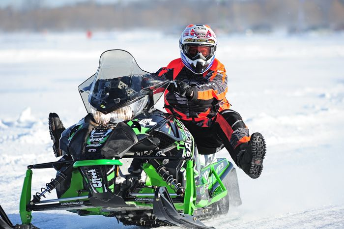 Full turkey salute from Team Arctic Cat's Wes Selby. Photo by ArcticInsider.com