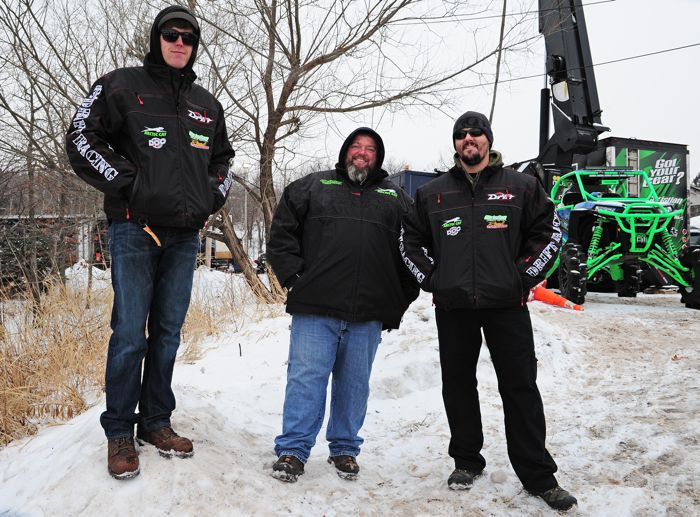 Christian Bros. Racing Zach Herfindahl, Hector Olson and Cory Berberich. Photo by ArcticInsider.com