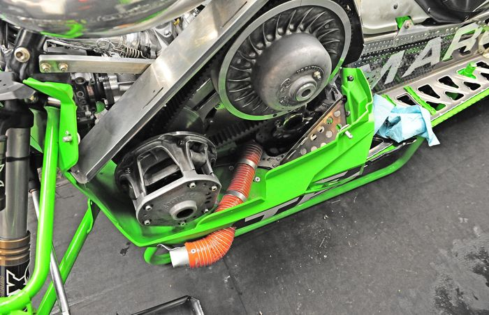 Cody Thomsen's Factory Arctic Cat Pro Open sled. Pic by ArcticInsider.com