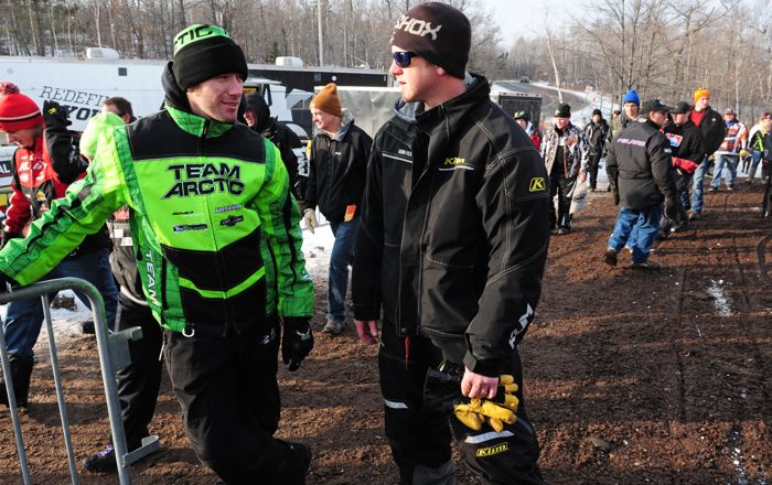 Team Arctic Cat's Wes Selby and Ryan Ryan Weidemann