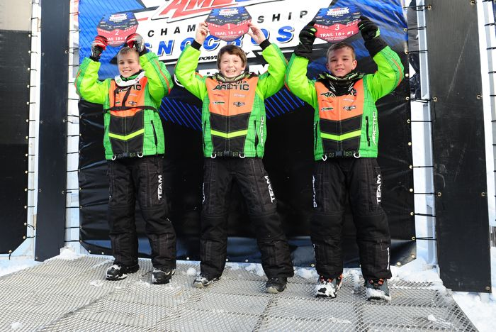 Team Arctic Cat sweeps snocross Transition. Photo by ArcticInsider.com