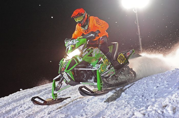 Team Arctic Cat's Montana Jess wins Sport at Duluth Snocross. Photo by ArcticInsider.com