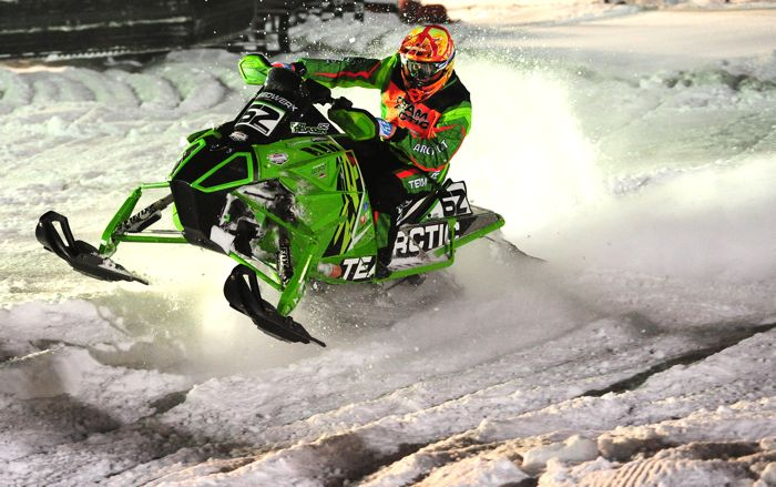 Factory Team Arctic Cat snocrosser Cody Thomsen. Photo by ArcticInsider.com