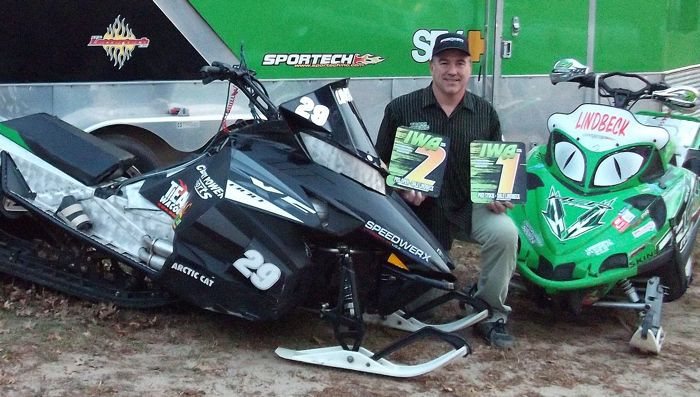 "Team Arctic Cat's Dale ""29er"" Lindbeck takes another IWA high point title."