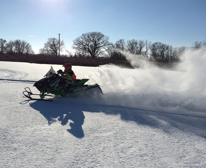 First ride on the 2015 Arctic Cat ZR4000 RR and XF6000 137. Photo by ArcticInsider.com