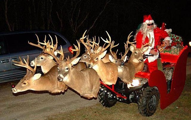 TGIF: Santa on his ATV