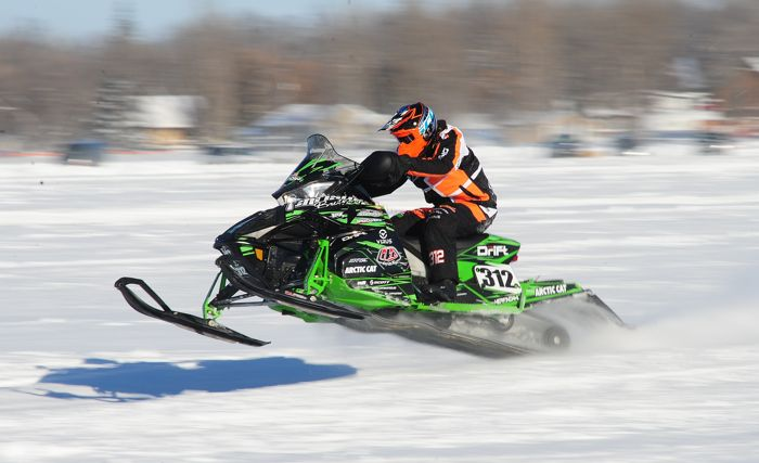 Team Arctic Cat's Zach Herfindahl won at Pine Lake in 2013. Photo by ArcticInsider.com