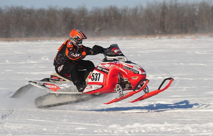 Polaris racer Ryan Faust will be a contender at Pine Lake. Photo by ArcticInsider.com
