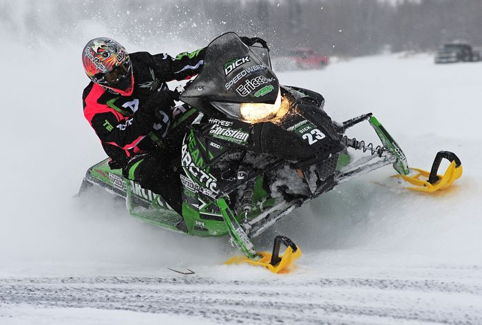 Team Arctic Cat's Brian Dick at Pine Lake 2013. Photo by ArcticInsider.com