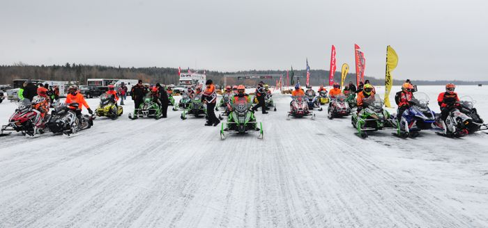 Pro Stock Final start of 2014 Pine Lake USXC. Photo by ArcticInsider.com