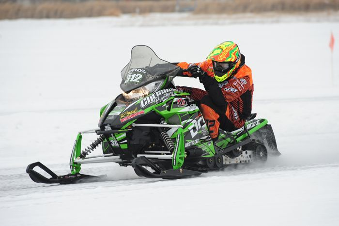 Team Arctic Cat's Zach Herfindahl wins Pro Open at 2014-15 Pine Lake. Photo by ArcticInsider.com