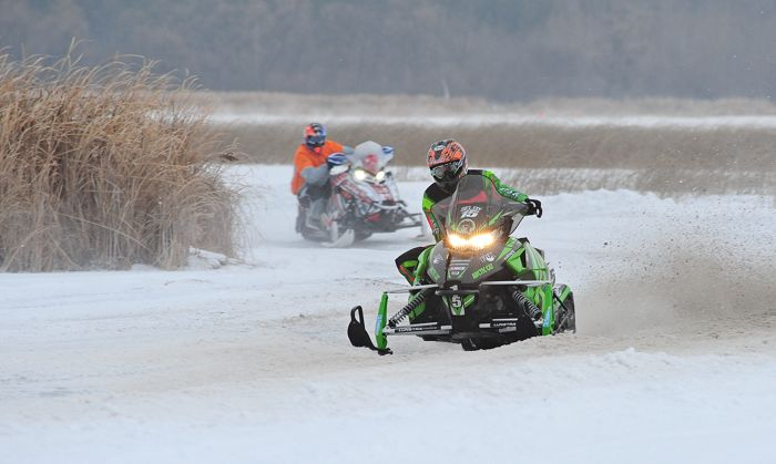 Team Arctic Cat's Wes Selby finished 2nd in Pro Stock at 2014-15 Pine Lake. Photo by ArcticInsider.com