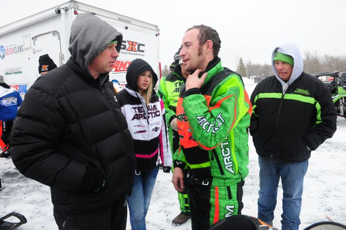 Team Arctic's Mike Kloety and Wes Selby. Photo by ArcticInsider.com