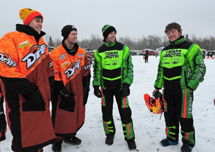 Team Arctic Cat Cross-Country racers at Pine Lake. Photo by ArcticInsider.com