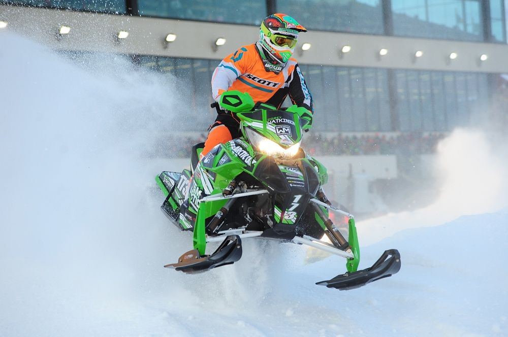 Team Arctic's Corey Watkinson won Pro Lite #1 at 2015 Canterbury SX. Photo by ArcticInsider.com