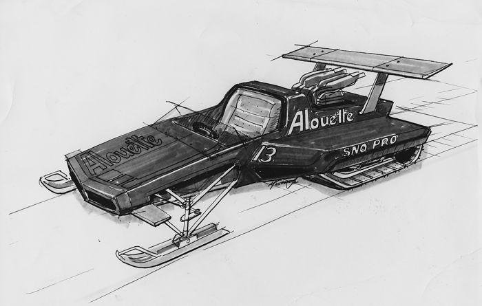 Alouette Sno Pro IFS drawing