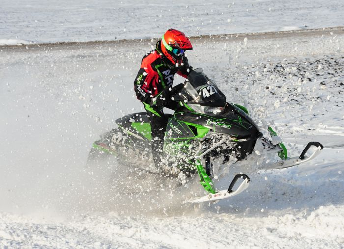 Team Arctic Cat's Mason Kallock won Sport 600 Open at '15 Grafton XC. Photo by ArcticInsider.com