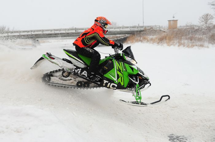 Team Arctic Cat's Mike Dirkman won at Grafton XC. Photo by ArcticInsider.com