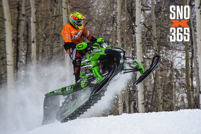 Team Arctic Cat's Ryan Simons wins X Games Gold in Hillcross. Photo by SnoX365