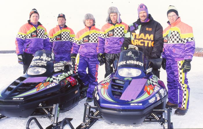 Pake and Hibbert, with some of Team Arctic's finest circa 1995. Photo by ArcticInsider.com
