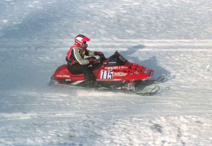 Team Arctic's Brad Pake, when he raced Polaris! Photo by ArcticInsider.com