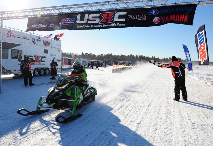 Team Arctic Cat's Wes Selby wins 2015 Park Rapids USXC. Photo by ArcticInsider.com