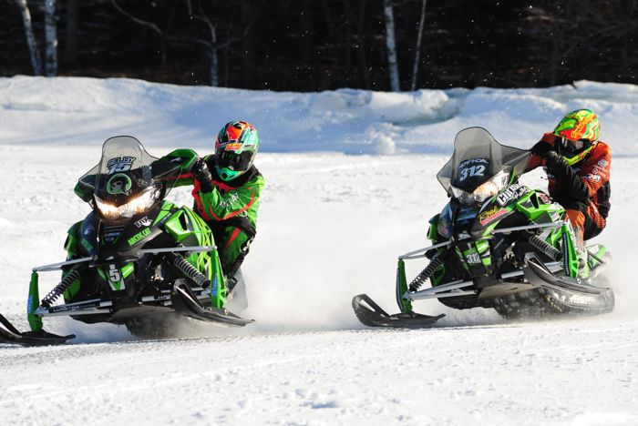 Team Arctic Cat's Wes Selby and Zach Herfindahl. Photo by ArcticInsider.com