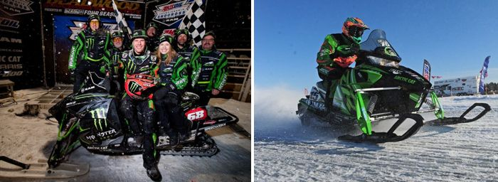 Team Arctic Cat's Tucker Hibbert and Wes Selby. Pix by Hanson & ArcticInsider