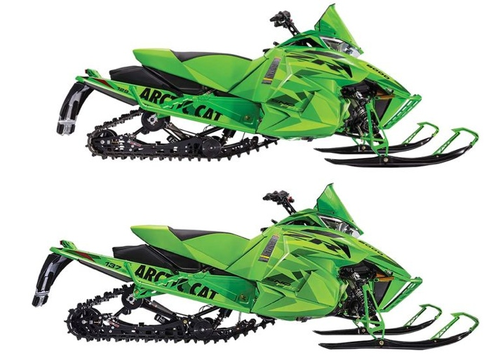 2016 Arctic Cat ZR Limited models in 129 (top) and 137 in.