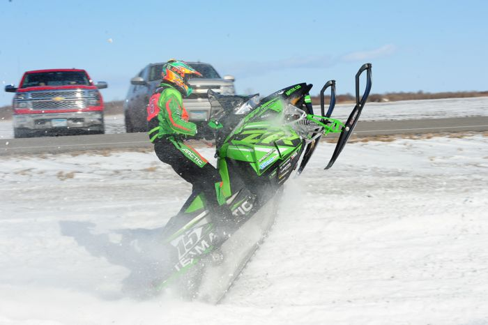 Team Arctic's Wes Selby in Warroad, MN. photo by ArcticInsider.com