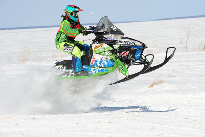 Team Arctic Cat's Ross Ilstrup wins in Warroad. Photo by ArcticInsider.com