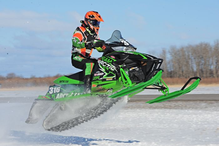 Team Arctic Cat's Nathan Sillerud wins in Warroad. Photo by ArcticInsider.com