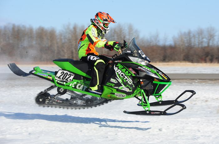Team Arctic Cat's Hunter Houle wins in Warroad. Photo by ArcticInsider.com