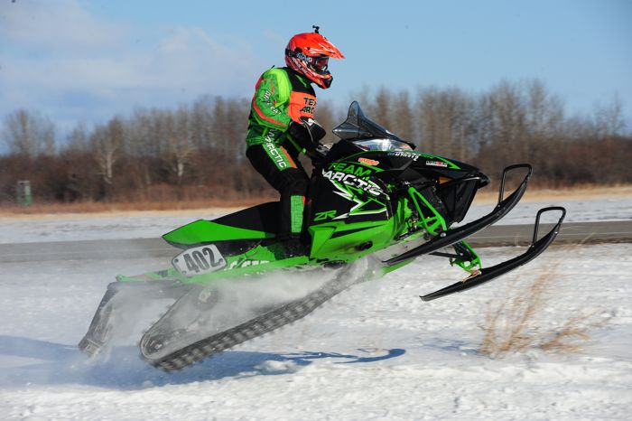 Team Arctic Cat's Savannah Landrus wins in Warroad. Photo by ArcticInsider.com