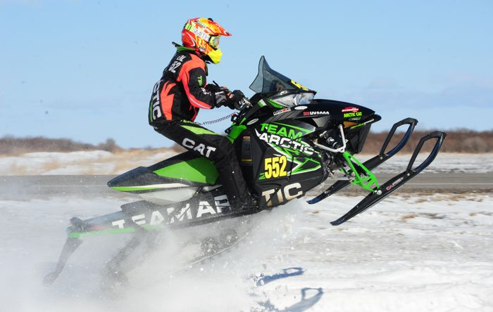 Team Arctic's Matt Feil ALMOST won in Warroad. Photo by ArcticInsider.com
