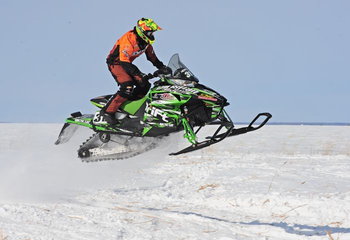 Team Arctic Cat's Zach Herfindahl wins Warroad. Photo by ArcticInsider.com