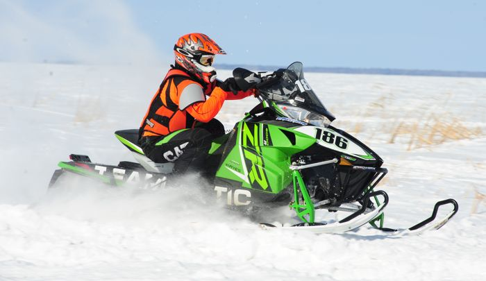 Team Arctic Cat's Mike Dirkman wins in Warroad. Photo by ArcticInsider.com