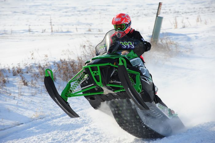 Team Arctic Cat's Blair Herfindahl wins in Warroad. Photo by ArcticInsider.com