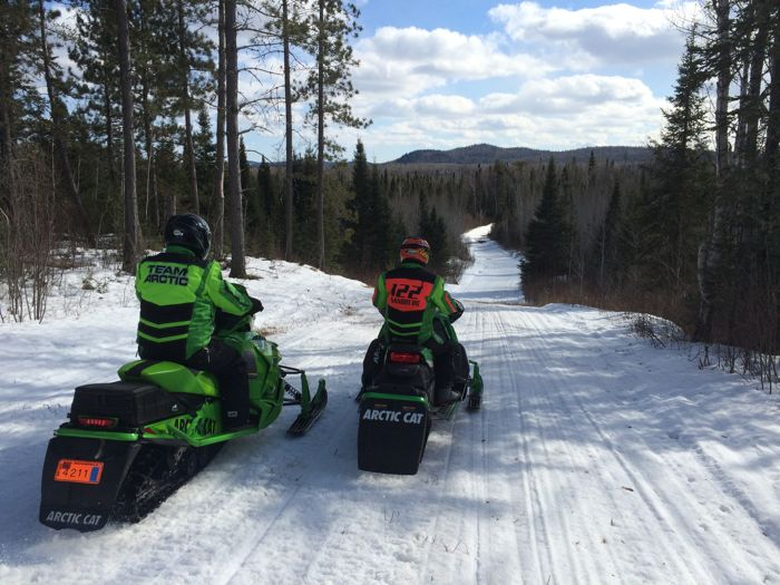 2015 Gunflint snowmobile ride on Arctic Cats. Photo by ArcticInsider.com