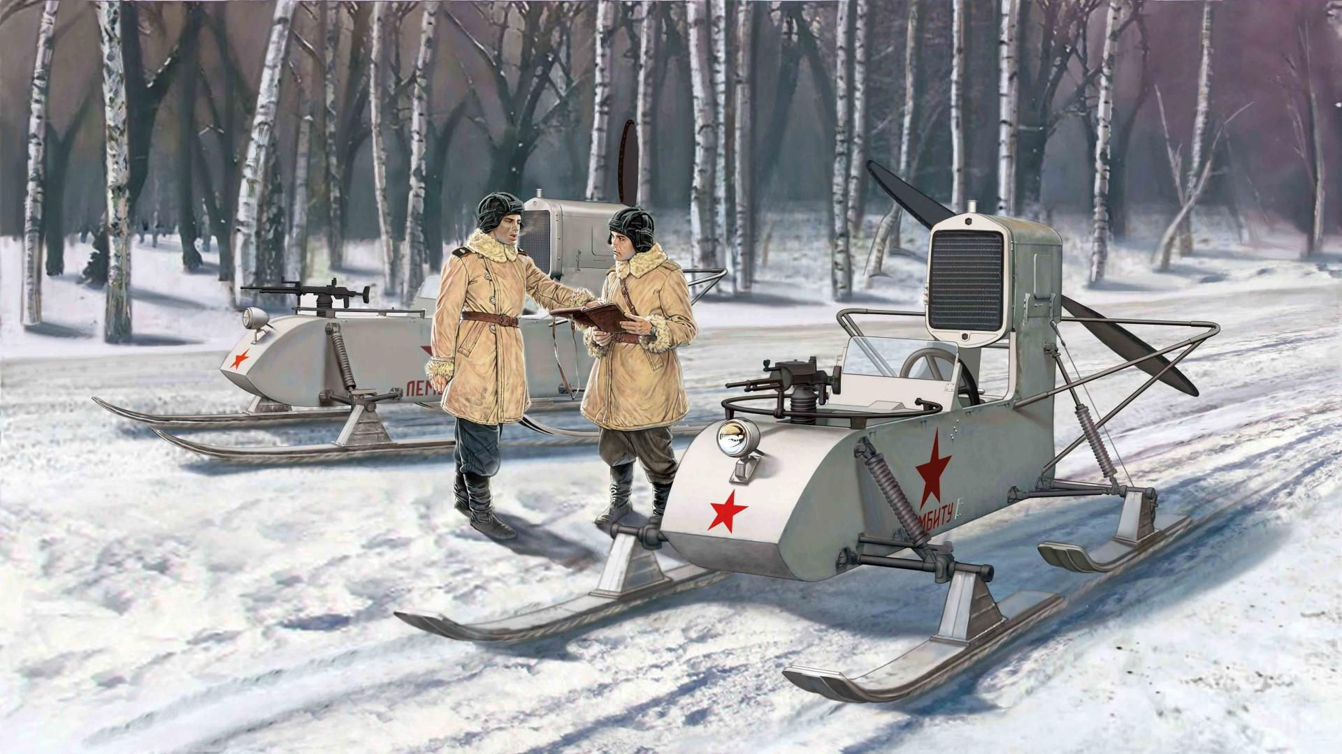 TGIF: Military snowmobile patrol