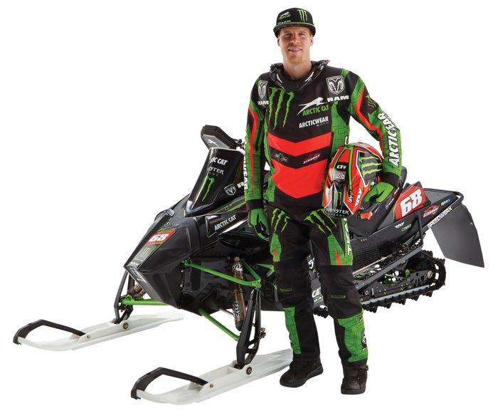Monster Energy-Arctic Cat racer Tucker Hibbert.