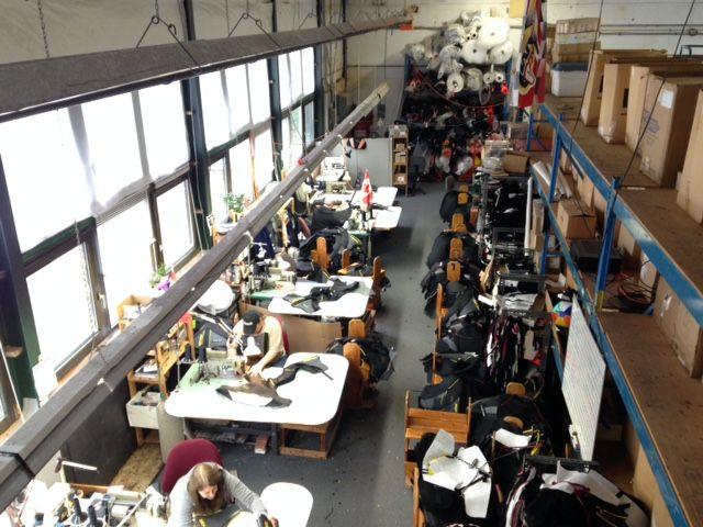 At the TekRider production facility.