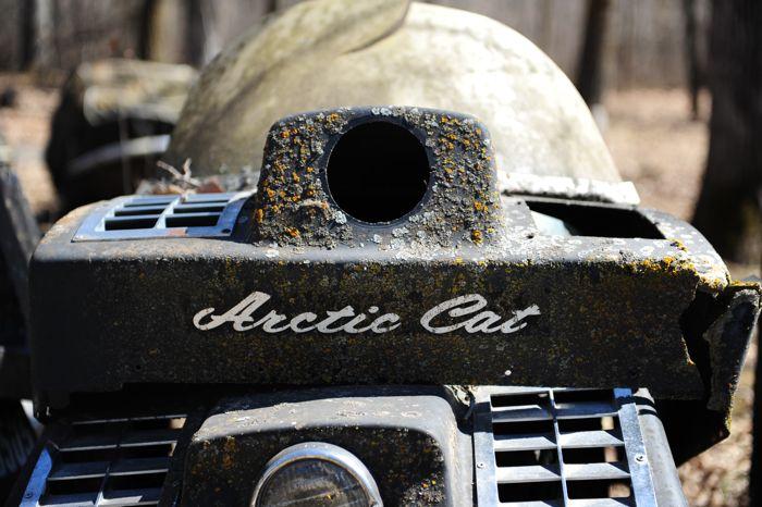 Vintage Arctic Cat snowmobile collector. Photo by ArcticInsider.com