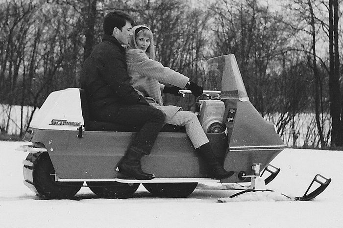 TGIF: Love on a snowmobile.