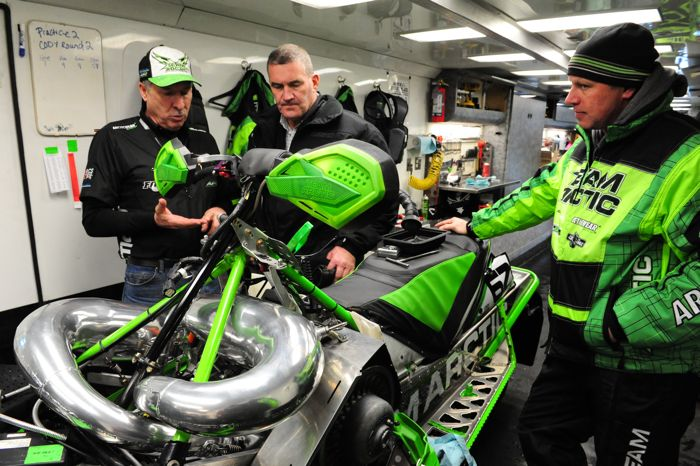 L-to-R: Arctic Cat's Russ Ebert, Doug Braswell and Mike Kloety. Photo by ArcticInsider.com