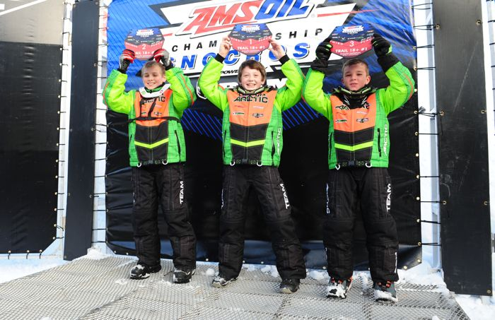 Team Arctic youth racers sweep the snocross podium at Duluth. Photo: ArcticInsider.com
